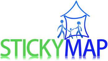 Stickymap.com: A social action project that helps community organizations demonstrate their impact in their neighborhood as well as their relationships with local buisinesses.
