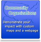 Community Organizations: Demonstrate your impact with Custom Maps and a Free Webpage